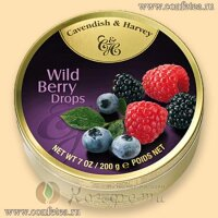 05136 Леденцы (Cavendish & Harvey) 175г «Дикие ягоды» (Wild Berry Drops)