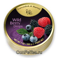 Леденцы #05136, Cavendish & Harvey, 175г «Лесные ягоды», Wild Berry Drops