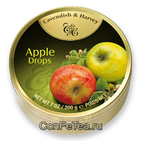 Леденцы #05149, Cavendish & Harvey, 200г «Яблоко», Apple Drops