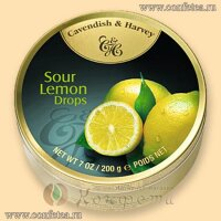 Леденцы (05146) (Cavendish & Harvey) 175г «Лимон» (Sour Lemon Drops)