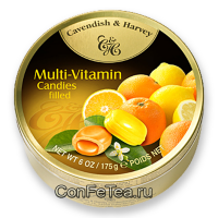 Леденцы #05137, Cavendish & Harvey, 175г «Мульти витамин», Multi Vitamin Candies