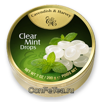 Леденцы #05135, Cavendish & Harvey, 200г «Мята», Clear Mint Drops