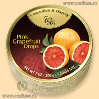 05134 Леденцы (Cavendish & Harvey) 200г «Грейпфрут» (Pink Grapefruit Drops)