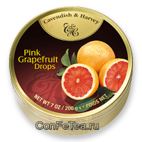 Леденцы #05134, Cavendish & Harvey, 200г «Грейпфрут», Pink Grapefruit Drops