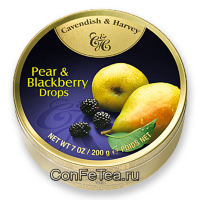 Леденцы #05133, Cavendish & Harvey, 200г «Груша и ежевика», Pear & Blackberry Drops