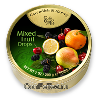 Леденцы #05132, Cavendish & Harvey, 200г «Фруктовый микс», Mixed Fruit Drops