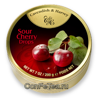 Леденцы #05118, Cavendish & Harvey, 200г «Вишня», Cherry Drops